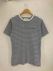 Tシャツ/S/コットン/NVY/ボーダー/suhs431/毛玉あり