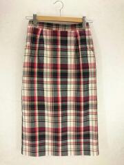 ロングスカート/36/H5S37-572-29/RED/ポプリンチェックスカート