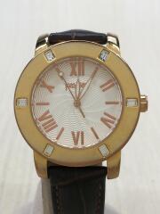 クォーツ腕時計/アナログ/レザー/wf1b005sp