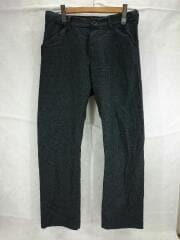 N.M Brushed Straight Pants/18A54/スラックスパンツ/3/ウール/GRY/無地