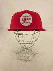 Carp/キャップ/--/ウール/RED