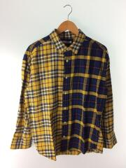 フランネルチェックビッグシャツ/--/コットン/YLW/チェック/18-050-400-1100-3-0