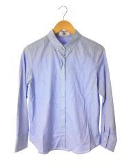 長袖ブラウス/11/コットン/BLU/フェイクパールボタン/オックスシャツ/BLGJYW0801