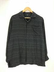 長袖シャツ/36/レーヨン/BLK/総柄/ks20SSH08/Open Collar L/S Shirt