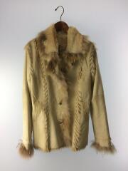山羊毛皮/ファージャケット/01133461/レザージャケット・ブルゾン/36/山羊革/BEG