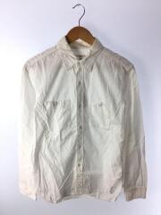 Work Shirt/長袖ワークシャツ/M/コットン/WHT/無地