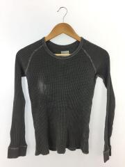 L S Pigment Dye Waffle Crew/NTW817318/長袖Tシャツ/L/コットン/GRY