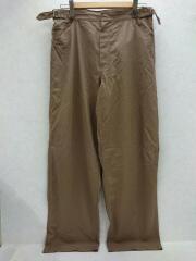 FINX HARD TWIST GABARDINE PANTS/a20sp02fb/ボトム/4/コットン/BRW