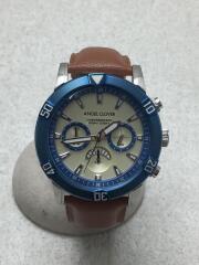 BR43/クォーツ腕時計/--/ラバー/WHT/BRW