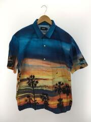 オープンカラーシャツ/半袖シャツ/XL/コットン/マルチカラー/総柄/01201402/転写プリント