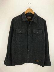 オープンカラー/ネルシャツ/172ARNH-SHM04/長袖シャツ/M/ウール/GRY