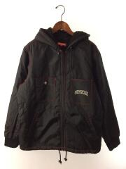 18AW/Sherpa Lined Nylon Zip Up Jacket/フリースジャケット/L/ナイロン/BLK