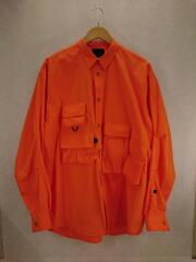 20ss/Mulch Pocket Easy Shirts/BE-85020/長袖シャツ/M/ポリエステル/ORN