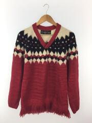 セーター(厚手)/--/アルパカ/RED