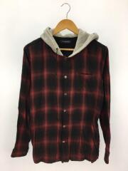フード付きシャツ/長袖シャツ/3/コットン/BRD/JUR4403
