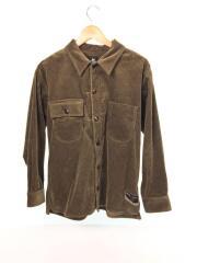 シャツ/S/コットン/BRW/レッドイヤー/292652/コーデュロイ/オーバーサイズ/長袖
