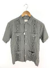 キューバキャツ半袖シャツ/M/コットン/WHT/チェック/ヘッドポータープラス