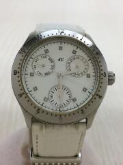 ヨンドシー/クォーツ腕時計/アナログ/--/ホワイト/ホワイト