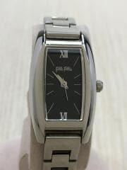 クォーツ腕時計/アナログ/ステンレス/ブラック/シルバー/S699L/SB
