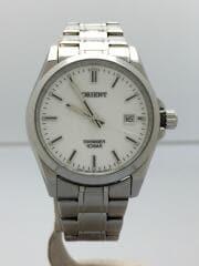 オリエント/クォーツ腕時計/アナログ/ステンレス/ホワイト/UNB4-C0-C/SWIMMER