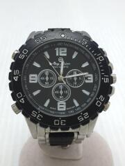 マビーメイソン/クォーツ腕時計/S-1818A/アナログ/ステンレス/ブラック/シルバー