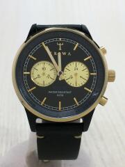 Nevil/クォーツ腕時計/アナログ/レザー/BLK/BLK/NEAC112