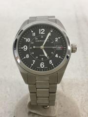 KHAKI/クォーツ腕時計/アナログ/ステンレス/BLK/SLV/H68551933