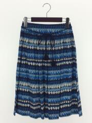 スカート/34/コットン/BLU/総柄