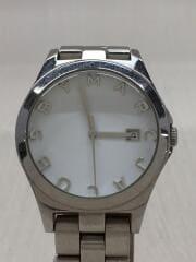 マークバイマークジェイコブス/クォーツ腕時計/ヘンリー/アナログ/ステンレス/ホワイト/MBM3036