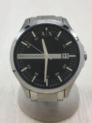 アルマーニエクスチェンジクォーツ腕時計_ステンレス/アナログ/ステンレス/ブラック/シルバー/AX2103