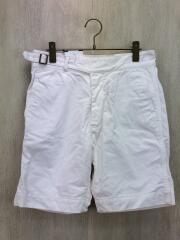 Traveller Gurkha Shorts/S/コットン/WHT/無地