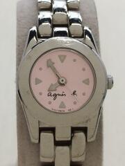 クォーツ腕時計/アナログ/ステンレス/PNK/SLV/Y151-0H30