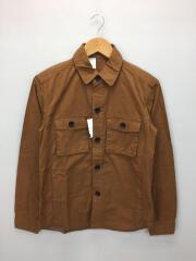 エヌハリウッド/長袖シャツ/36/フラップシャツ/コレクションライン/コットン/ブラウン/91606