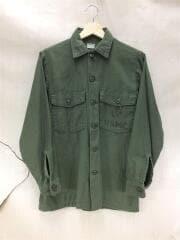 USMC/ミリタリーシャツ/長袖シャツ/コットン/カーキ