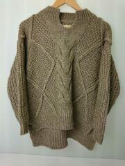 セーター(厚手)/820250/FREE/ウール20/BRW