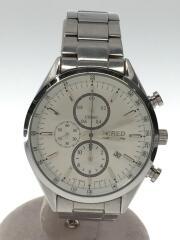 クォーツ腕時計/7T92-0SM0/スタンダードクロノグラフ/コマ有/アナログ/ステンレス/WHT/SL