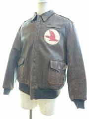 40s/40年代/A-2ジャケット/ジップ交換有/フライトジャケット/44/レザー/BRW