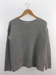 セーター(厚手)/S/コットン/GRY/無地/01-7101726-026-902