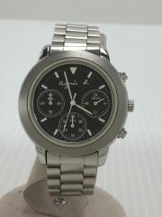 クォーツ腕時計/アナログ/BLK/SLV/V654-6100/FANN001