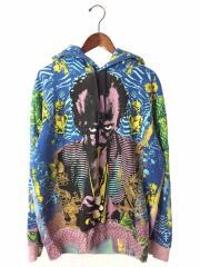 20SS/Miles Davis Hooded Sweatshirt/パーカー/L/コットン/BLU/総柄