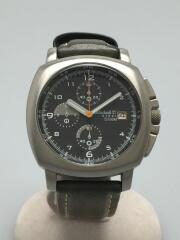 12513G/Original/Acero/Resistente/Agua/クォーツ腕時計/アナログ/ブラック