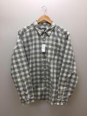 RN51884/長袖シャツ/L/コットン/WHT/ホワイト