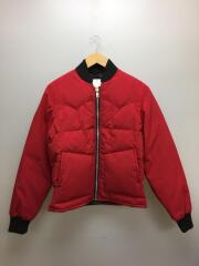 80s/ダウンジャケット/M/コットン/RED/レッド