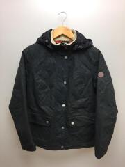 bartlett/Quilted Wax Jacket/バー/キルティングジャケット/40/コットン/ブラック
