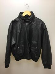 レザージャケット・ブルゾン/L/羊革/BLK/ブラック