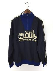 XL/コットン/ネイビー/1A5CMU/VCCM09/Louisプリンテッドマルチジップスウェットシャツ