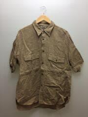 A9SS02LS/シルクサマーツイードハーフシャツ/半袖シャツ/5/リネン/BRW/ブラウン