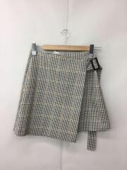 チェックラップミニスカート/スカート/1/ポリエステル/マルチカラー/SWFS184014