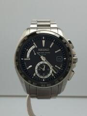 BRIGHTZ/WORLD TIME/ソーラー腕時計/8B54-0BB0/アナログ/チタン
