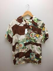 アロハシャツ/M/レーヨン/ブラウン/M32660